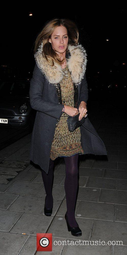 Trinny Woodall,  leaving C London restaurant London,...