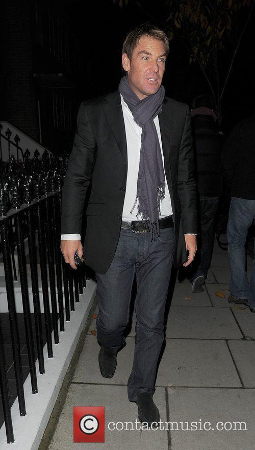 Shane Warne returning home.