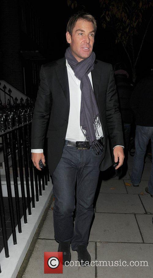 Shane Warne returning home. London, England
