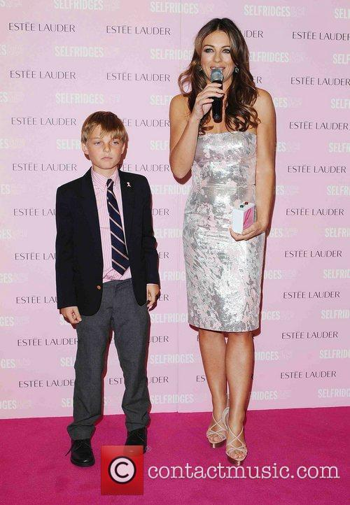 Elizabeth Hurley and her son Damien attend a...