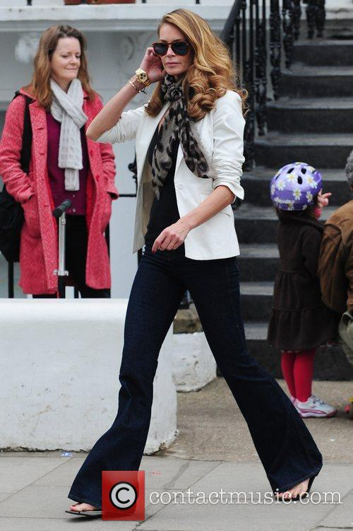 Elle Macpherson makes her way home after dropping...