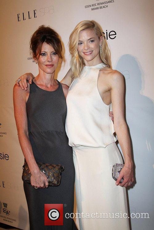 Elle Editor-in-Chief Robbie Myers and Jaime King...