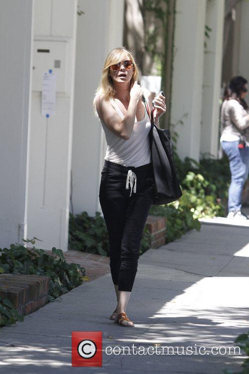 Ellen Pompeo is seen exiting a salon on...