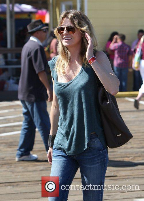 Ellen Pompeo and Santa Monica Pier 8