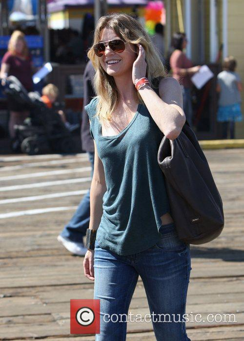Ellen Pompeo and Santa Monica Pier 2
