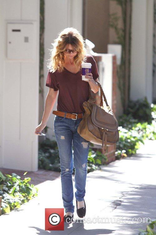 Ellen Pompeo is seen leaving a salon on...