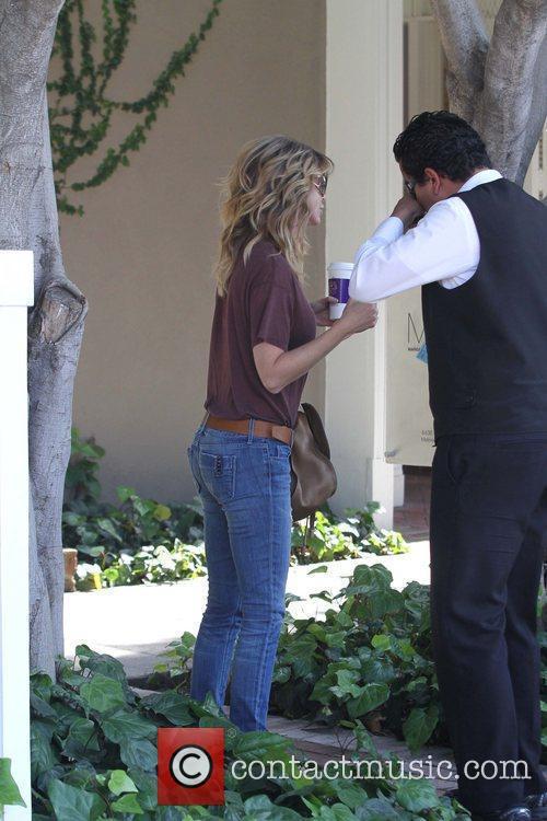Ellen Pompeo is seen leaving a salon on...