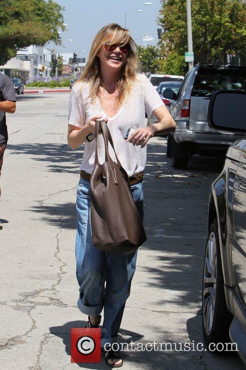 Ellen Pompeo leaving the Kate Somerville skin care...