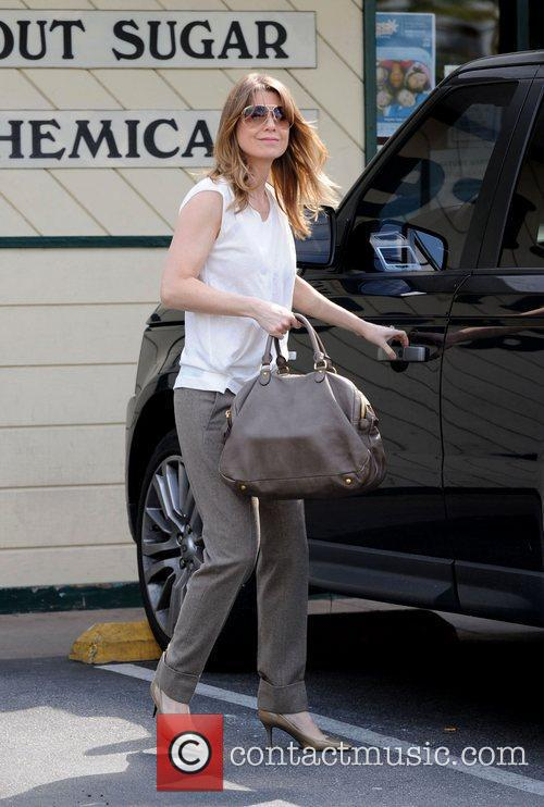 Ellen Pompeo leaving Nature Mart grocery store in...