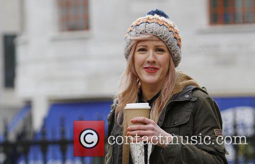 Ellie Goulding busking in Trafalgar Square to coincide...