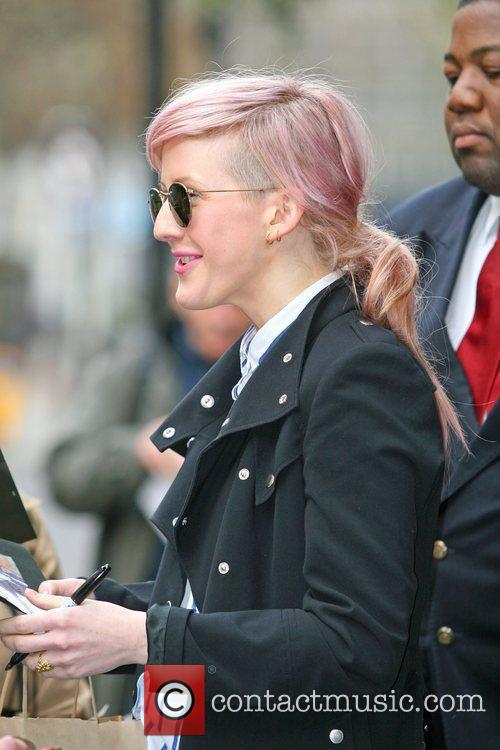 Ellie Goulding is seen leaving BBC Radio 1...