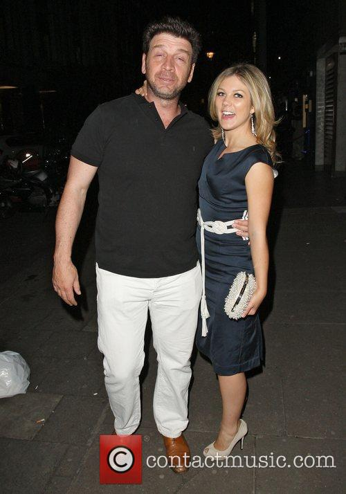 A worse for wear Nick Knowles and girlfriend...