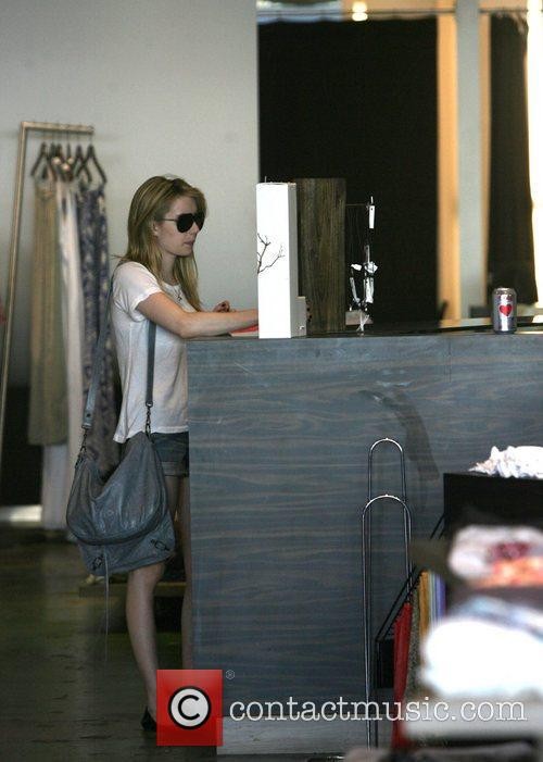 Emma Roberts shops at Planet Blue in Beverly...