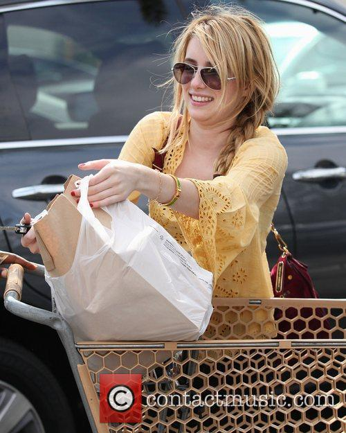 Emma Roberts shopping at Pavilions in West Hollywood