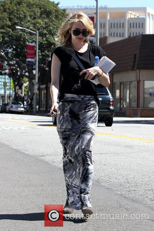 Leaving a salon in Los Angeles