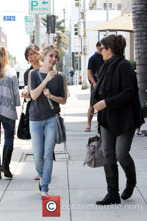 Emma Roberts and her mother Kelly Cunningham out...