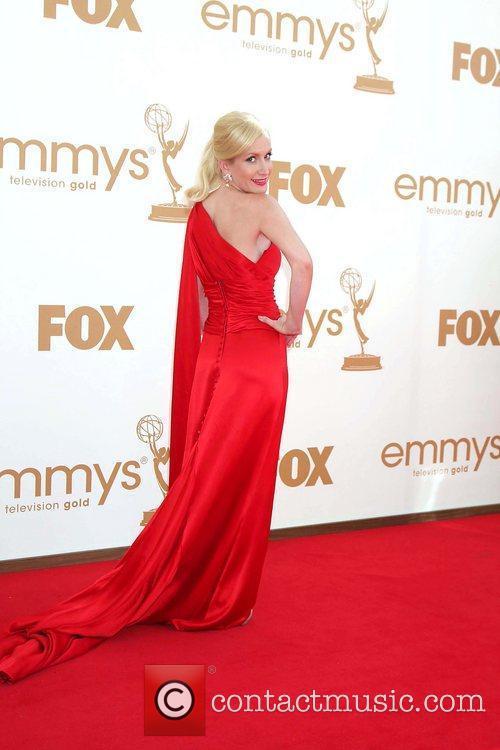 Angela Kinsey,  at the 63rd Primetime Emmy...