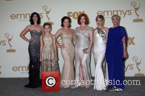 Jessica Pare, Cara Buono, Christina Hendricks, Elisabeth Moss, Kiernan Shipka and Emmy Awards 3