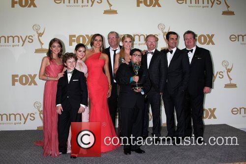 Sarah Hyland, Ariel Winter, Eric Stonestreet, Jesse Tyler Ferguson, Julie Bowen, Nolan Gould, Rico Rodriguez, Sofia Vergara, Ty Burrell and Emmy Awards 3
