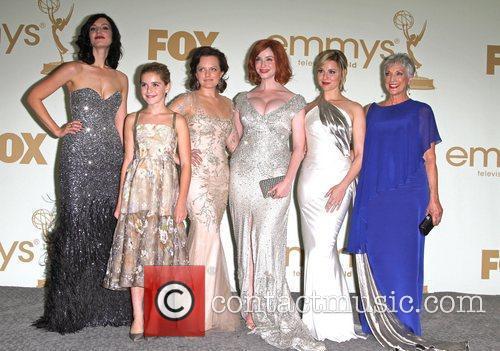 Jessica Pare, Cara Buono, Christina Hendricks, Elisabeth Moss, Kiernan Shipka and Emmy Awards 4