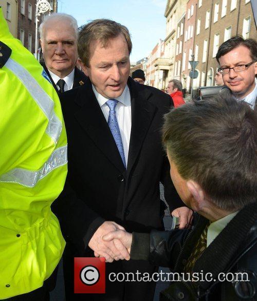 New Irish Taoiseach Enda Kenny  at Leinster...
