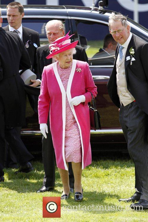 The Queen arrives at Epsom Racecourse for The...