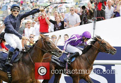 Jockey Mickael Barzalona and his horse Pour Moi...