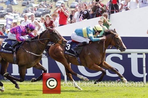 Winning the third race of The Derby Stakes...