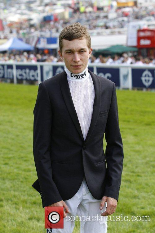 Luke Morris walking the course during The Derby...