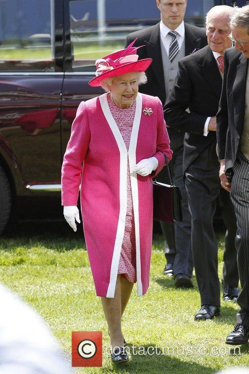 Queen Elizabeth II attends The Derby Stakes at...