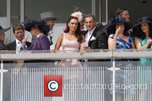 Tamara Ecclestone and Omar Khyami attend The Derby...