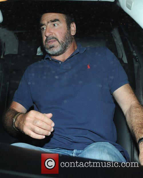 Eric Cantona leaving The Dorchester hotel London, England