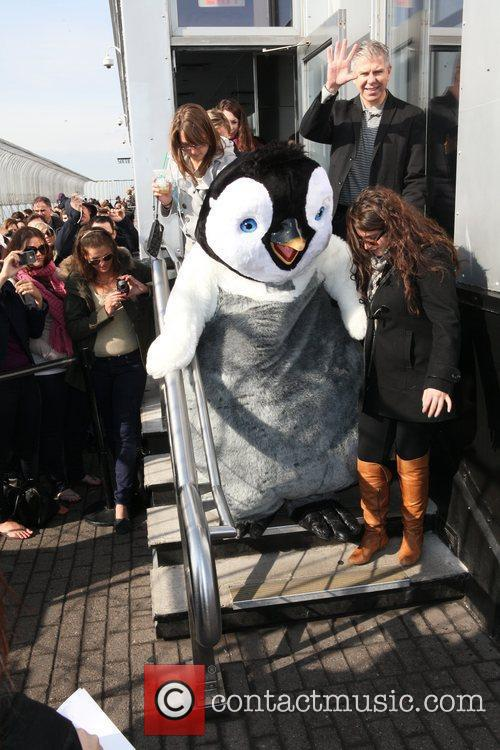 Erik the Penguin from 'Happy Feet Two' attends...