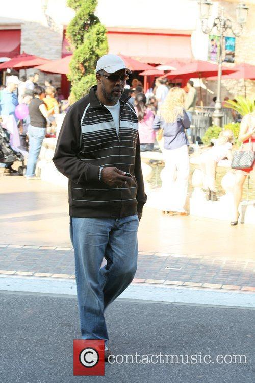 Eriq La Salle walks through The Grove on...