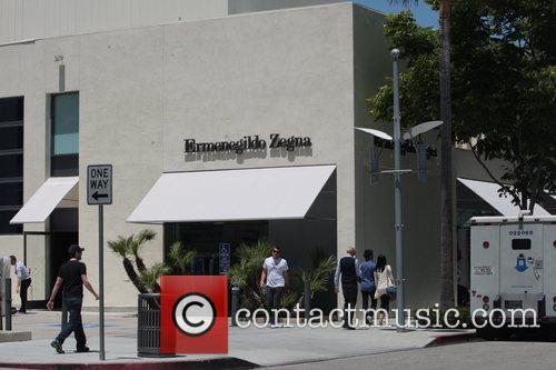 Ermenegildo Zegna in Beverly Hills, where Kim Kardashian...