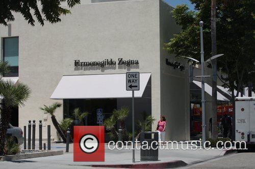 Atmosphere Ermenegildo Zegna in Beverly Hills, where Kim...