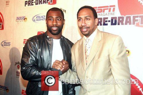 NFL Player Darrelle Revis and Sports Commentator Stephen...