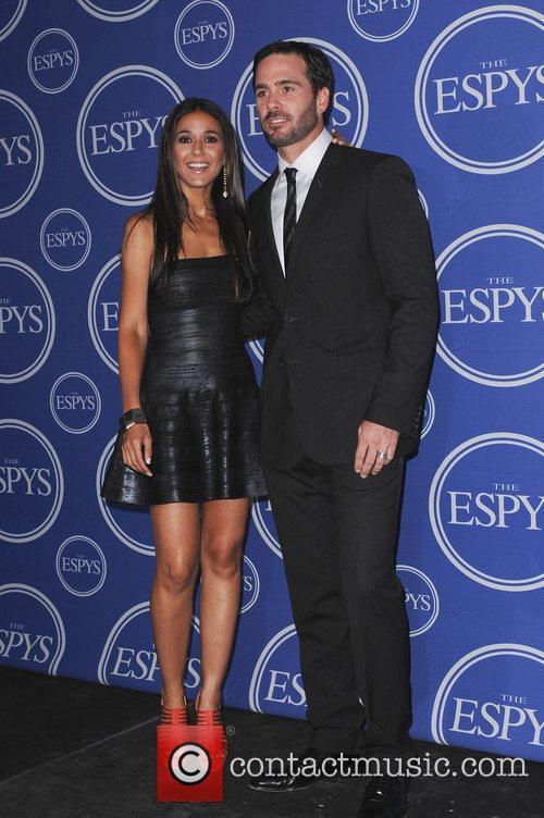 Emmanuelle Chriqui, Jimmie Johnson  The 2011 ESPY...