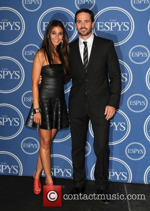 Jimmie Johnson; Emmanuelle Chriqui The 2011 ESPY Awards...