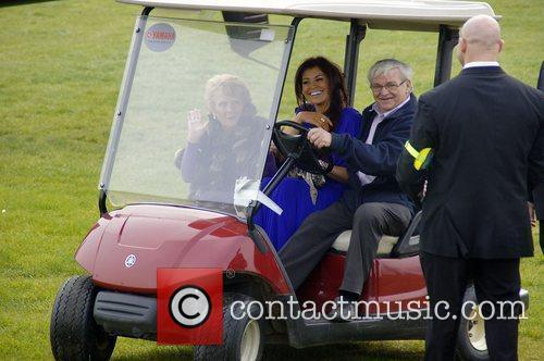 Jessica Wright and Nanny Pat arriving in a...