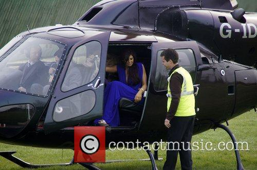 Jessica Wright arriving by helicopter  VIP day...