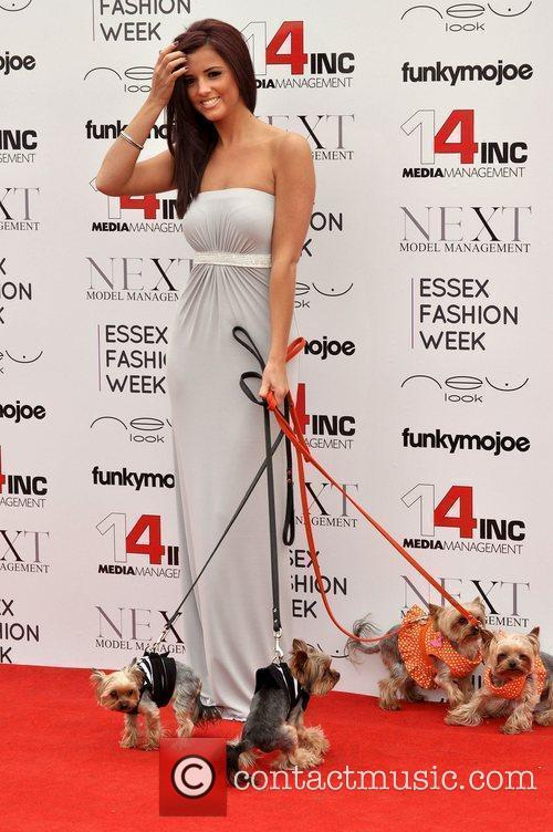 Lucy Mecklenburgh VIP day at Essex Fashion Week...
