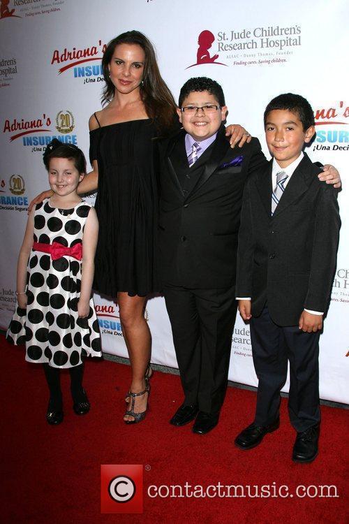 Kate del Castillo and Rico Rodriguez with Mia...