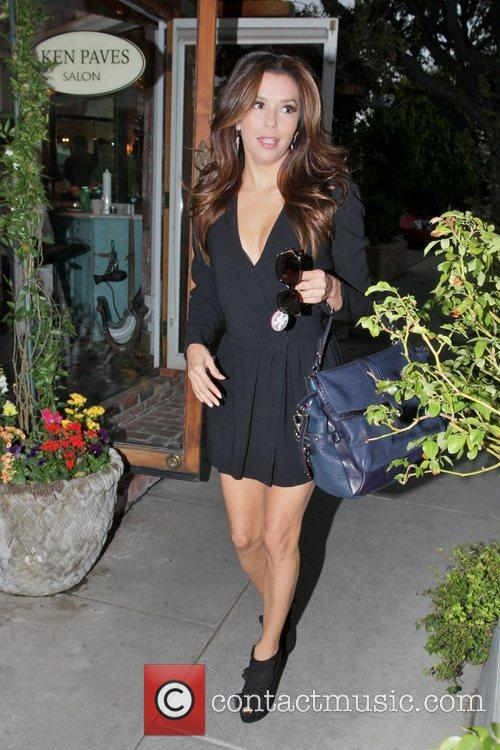 Eva Longoria, Ken Paves and Ken Paves Hair Salon 3