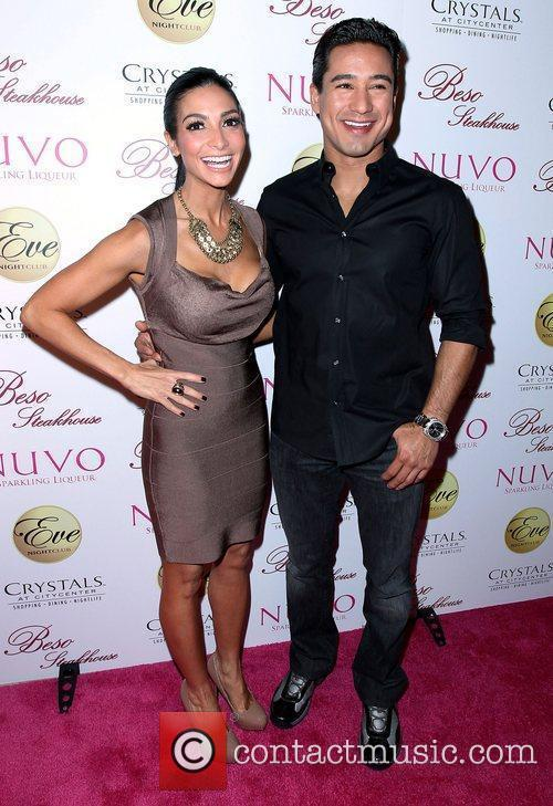 Mario Lopez and Courtney Mazza Eva Longoria Paints...