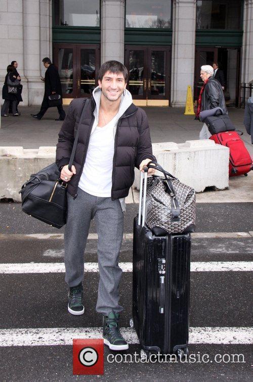 2010 Olympic Champion Evan Lysacek arrives at Union...