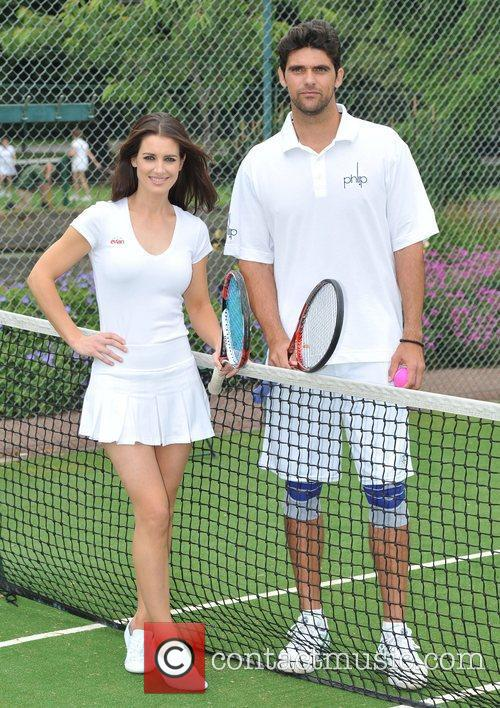 Kirsty Gallacher and Mark Philippoussis Evian - photocall...