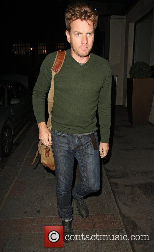Ewan McGregor arriving at his hotel in London