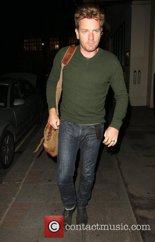Ewan McGregor arriving at his hotel in London...