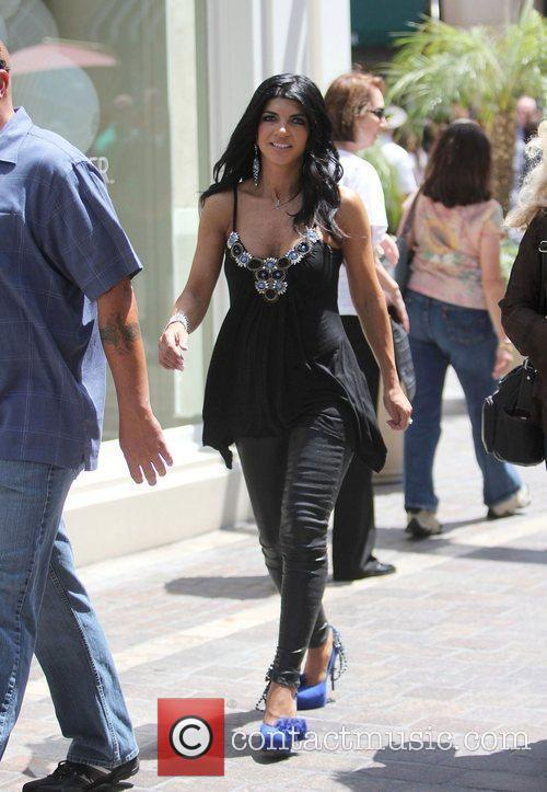 Teresa Giudice filming for the entertainment television news...